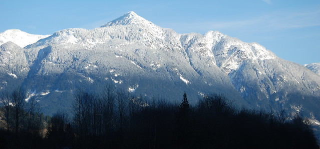 THIS MOUNTAIN IS THE BACKDROP FOR SCENIC HOPE,  BC.