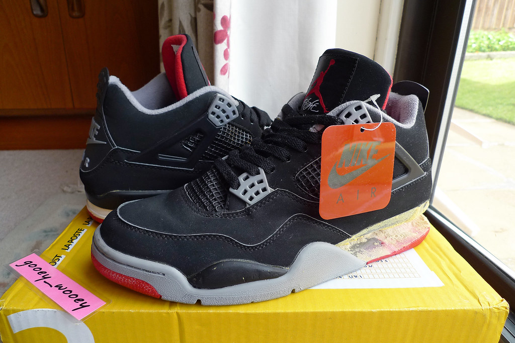 finest selection 30f7c 2b770 ... Nike Air Jordan IV 5  Bred  Black   Cement Grey (136013 001)