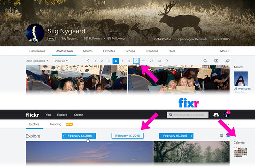 Top-pagination with Stig's Flickr Fixr