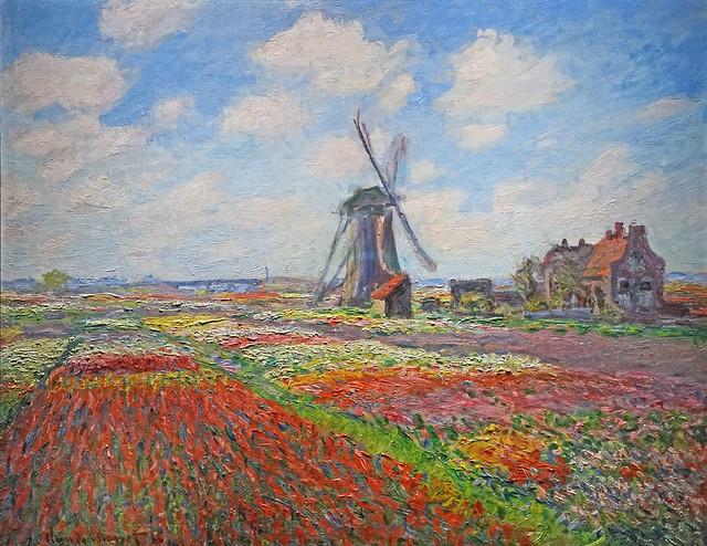Champs de tulipes de Claude Monet (Institut du Monde Arabe, Paris)