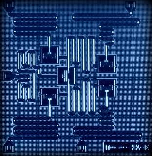 Layout of IBM's five superconducting quantum bit device.
