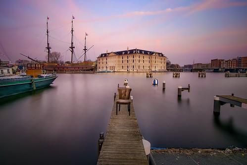 longexposure travel sunset netherlands amsterdam museum outdoors pier boat chair furniture nikond5300