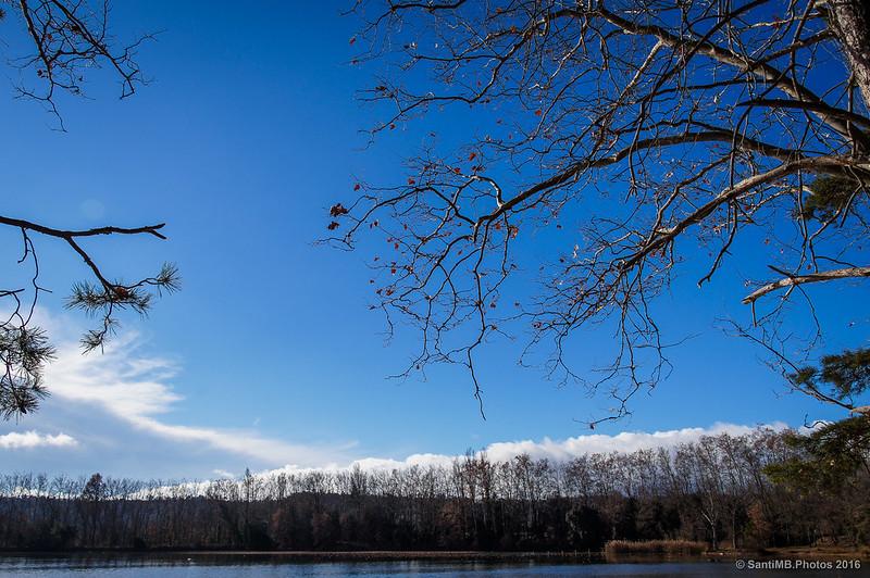 Cielo azul de invierno