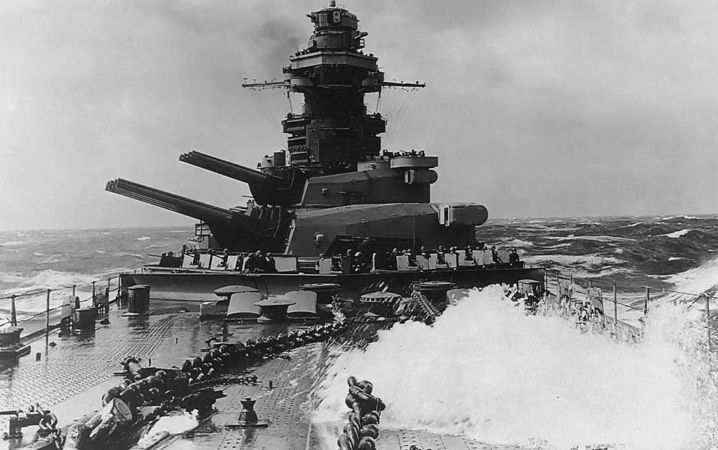 French battleship Richelieu  transition  the Indian Ocean 1944.