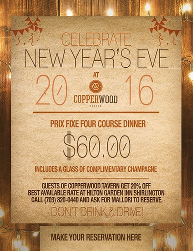 New Year's Eve at Copperwood Tavern Shirlington | by pamelaspunch
