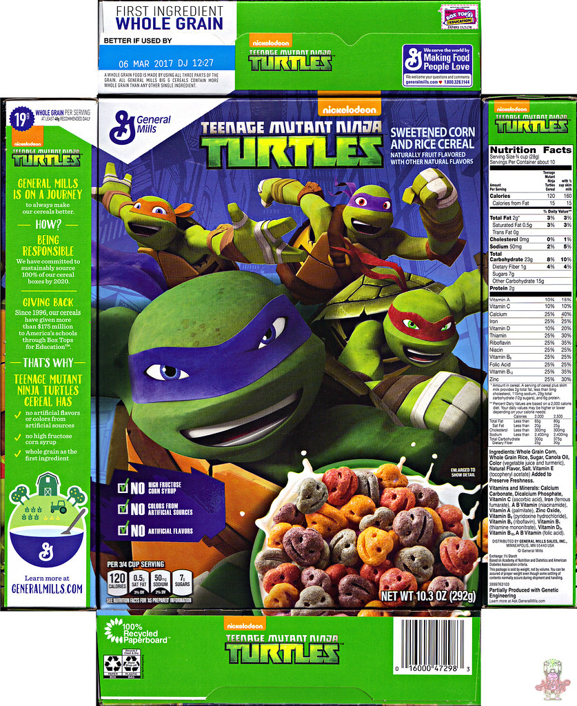 "General Mills  :: Nickelodeon ""TEENAGE MUTANT NINJA TURTLES"" CEREAL i (( 2016 )) by tOkKa"