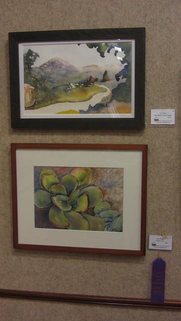 IMG_8451 GVAA Goleta library show Cez landscape watercolor on top