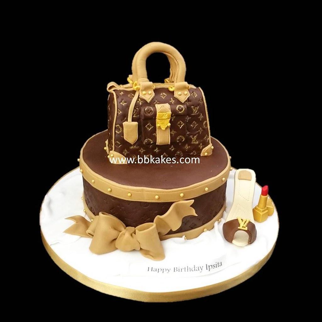 Louis Vuitton Theme Birthday Cake Bbkakes Birthdaycake Louisvuitton Lv