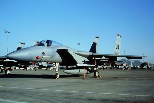 F-15C 86-0169/LN 493FS/48FW USAFE. Nellis AFB Nevada. (During