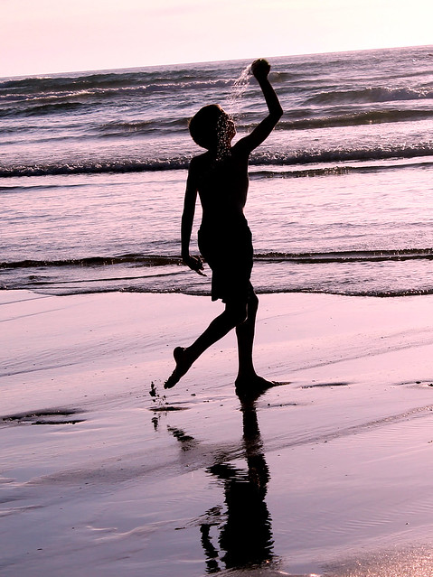 On Crantock Beach Cornwall