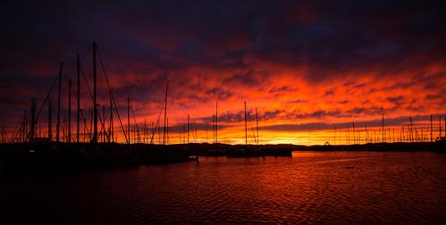 sky cloud clouds marina sunrise tasmania hobart derwentriver