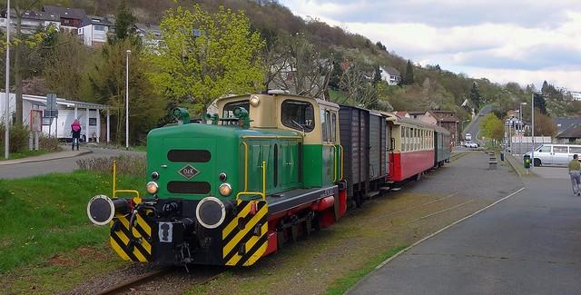 Brohltalbahn - Vulkanexpress in Niederzissen Deutschland 17. April 2016