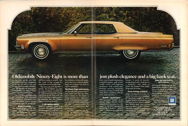 1972 Oldsmobile Ninety-Eight Advertisement Time Magazine September 27 1971