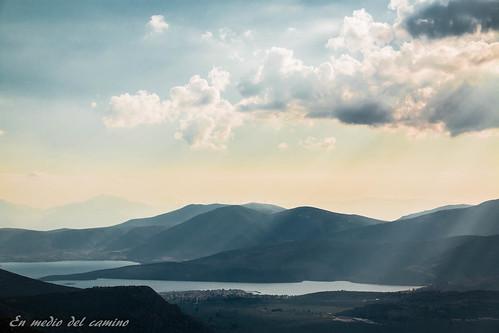 blue sky mountain azul clouds landscape outdoors europa europe valle greece grecia valley peloponnese peloponeso