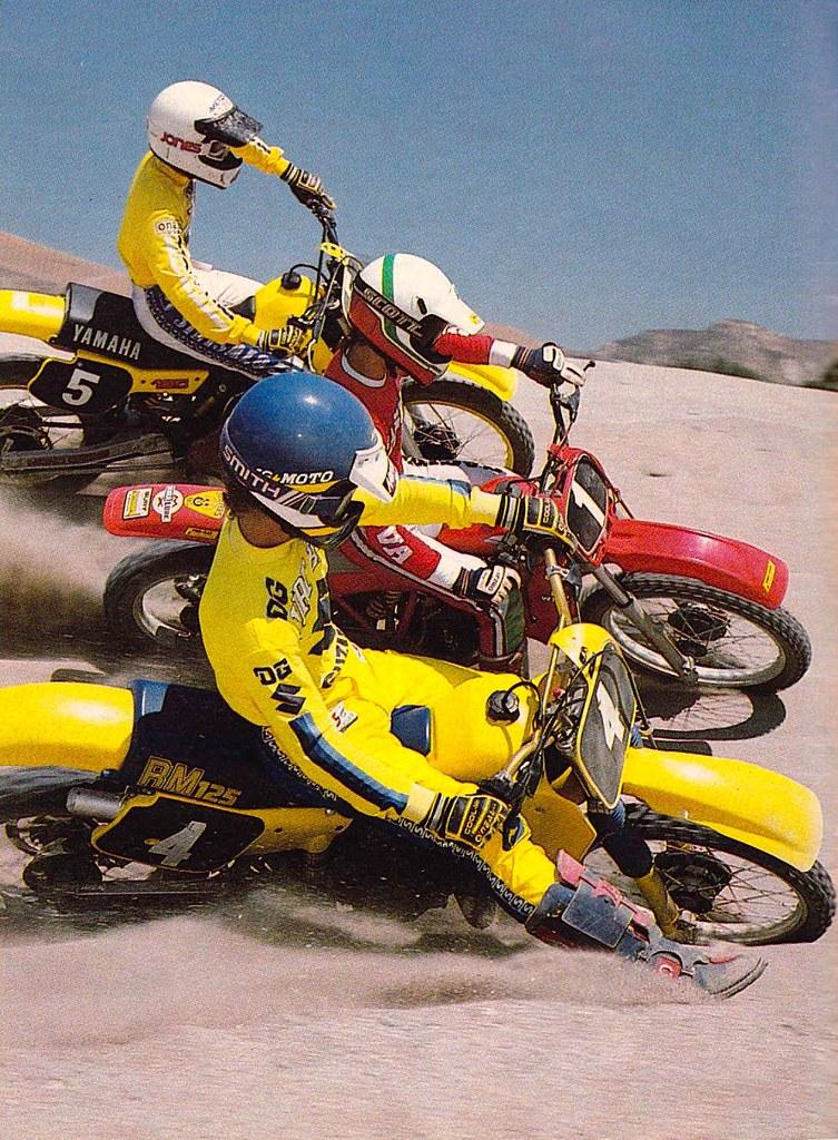 1984 Yamaha YZ125, Cagiva 125 WMX and Suzuki RM125 -Dirt B