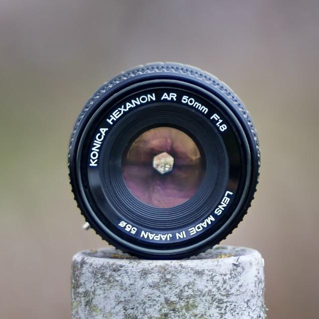Konica Hexanon AR 50mm ƒ/1.8