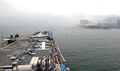 USS Boxer (LHD 4) approaches Hong Kong, March 21.  (U.S. Navy/MC2 Brian Caracci)