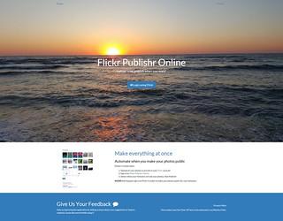 Flickr Publishr Online