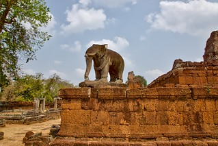 Elephant statue at a corner of the East Mebon temple near Siem Reap, Cambodia | by UweBKK (α 77 on )