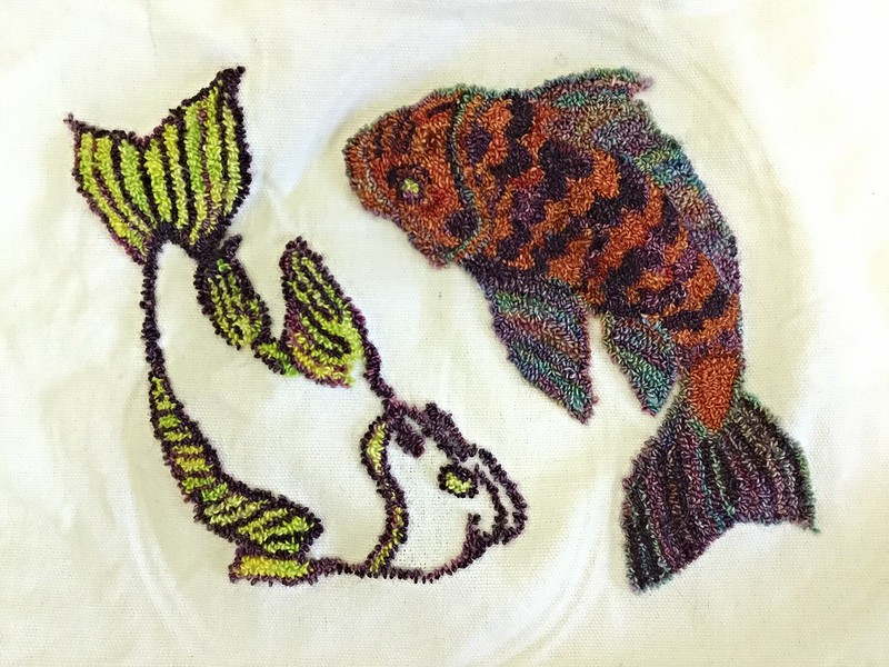 Koi Needlepunch Embroidery