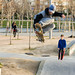 Skater flying
