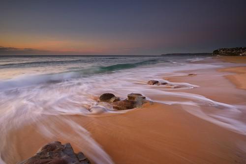 seascape sunrise rocks waves australia newsouthwales aus merewether barbeach watermovement nikon1635mmf4 paulhollins nikond750