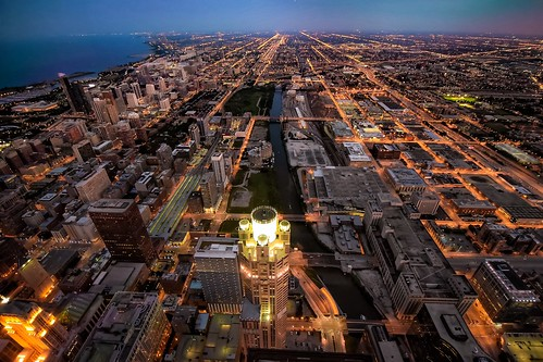 travel chicago night river photography cityscape view michigan south aerial willis nikond5300