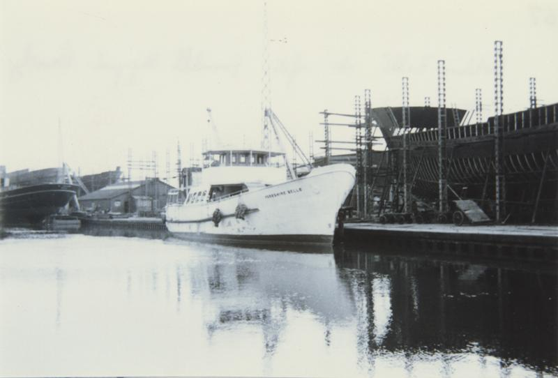Yorkshire Belle in for refit at Grovehill Shipyard late 1940s (archive ref DDX1544-1-11 (67))