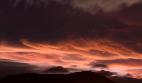 sunset sky clouds tasmania hobart mtwellington afterthesunset