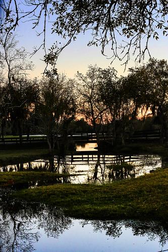 texas wallercounty fieldstore josephroad springcreek water sunset evening dusk sundown creek stream bridge trees colors wyojones np