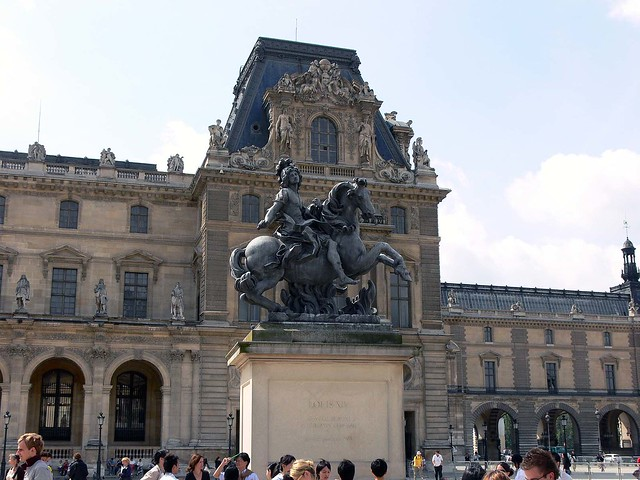 The Statue outside the Lourve