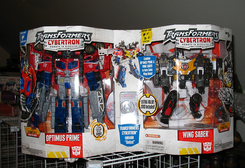 Costco Exclusive Cybertron Optimus Prime and Wing Saber   by naladahc