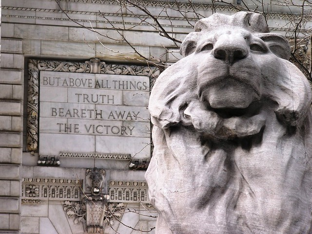 NYPL - Lion and Quote