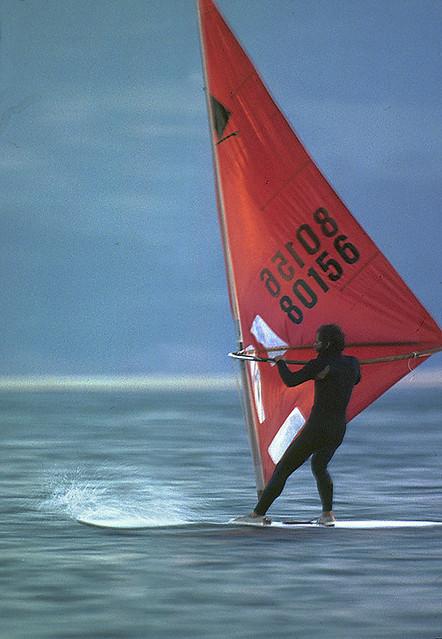 Me, windsurfing 1977