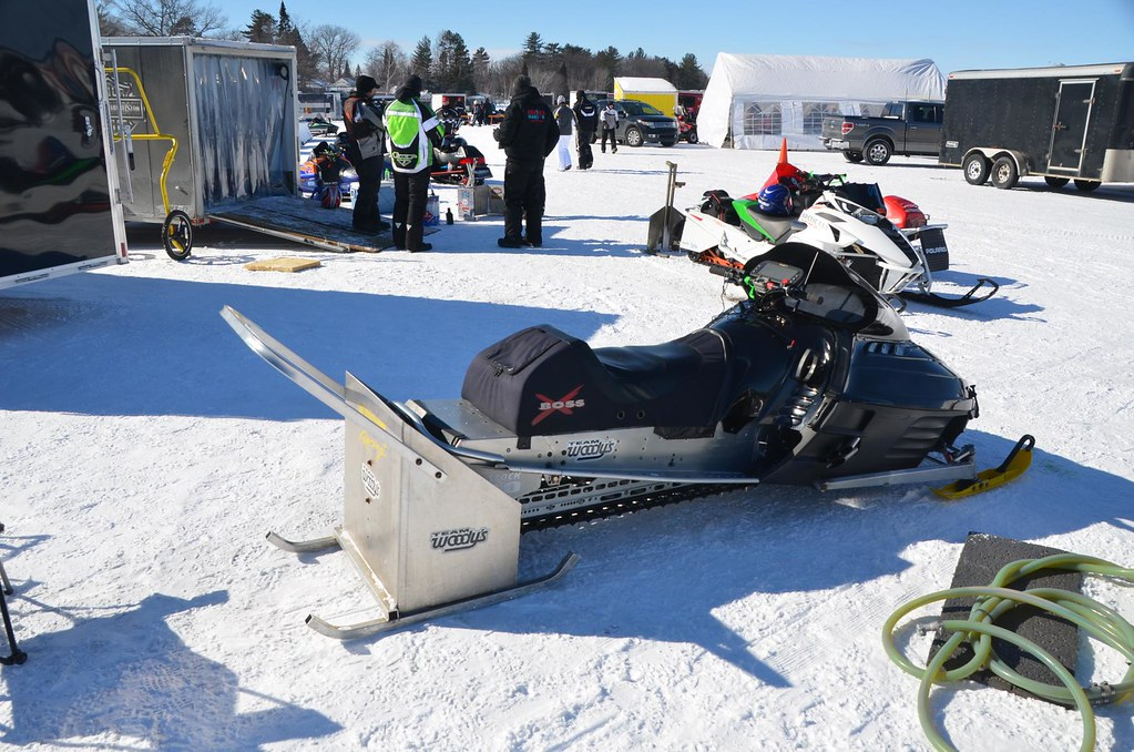 Snowmobile racing and show on Houghton Lake, Michigan | Flickr