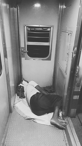 sleeping blackandwhite monochrome night train noir snapshot oldman leftoutinthecold snapseed samsunggalaxys6