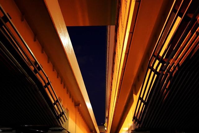 Under the night highway