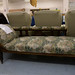 Dark oak chaise lounge