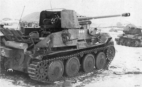 Abandonned under Stalingrad German tank destroyer Marder III