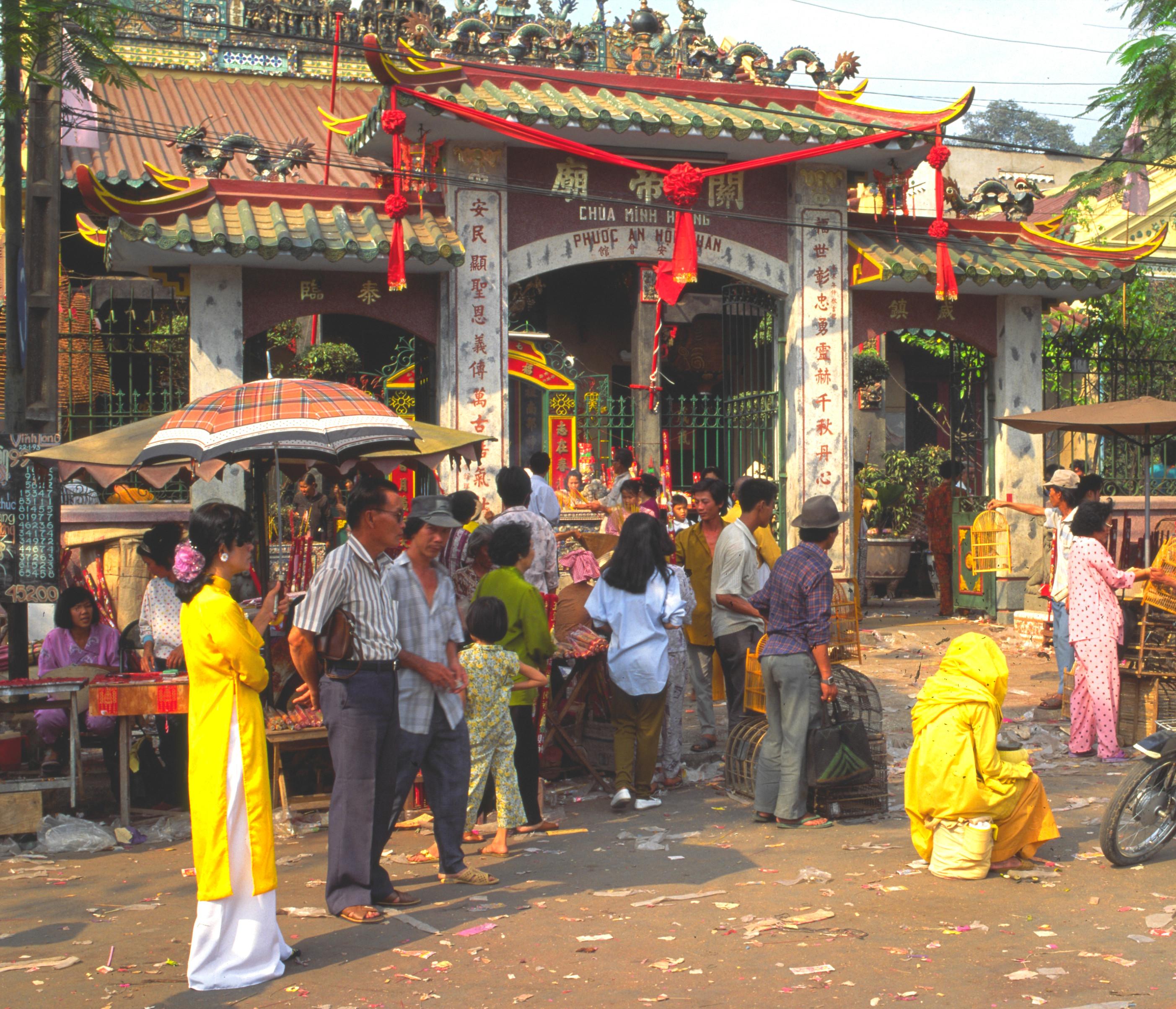 viet_sud_036 : Vietnam, Saigon au nouvel an