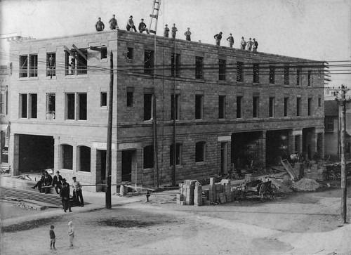 1910 - Dietrich Hotel construction - 1910 restored