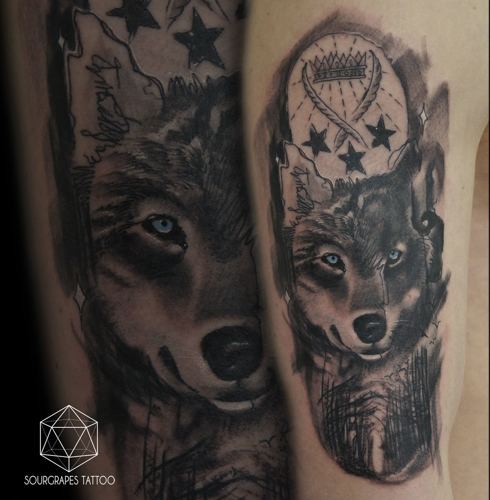 b5ad692bca163 Abstract Black and Grey Wolf Tattoo | Sourgrapes Tattoo 1322… | Flickr