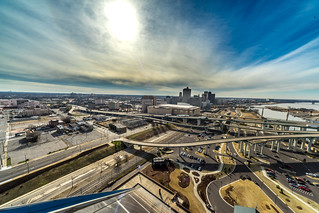 Memphis cityscape from the pyramid observation deck   by SDB777