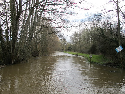 The Dun River, from bridge in Lockerley SWC Walk 58 Mottisfont and Dunbridge to Romsey taken by Karen C.