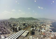 Takamatsu from above #fisheye #symboltower