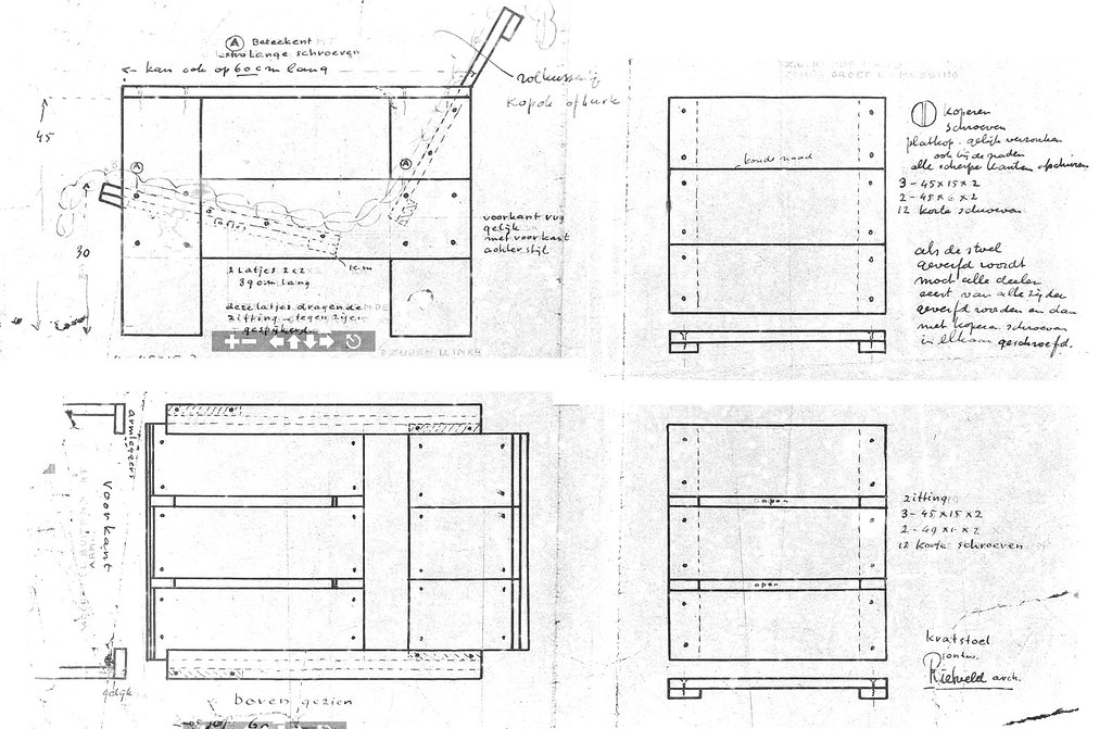 Gerrit Rietveld Crate Chair Plans | Uncleverly purloined ...