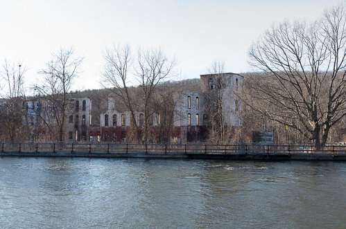 winter urban mill abandoned water canal massachusetts urbandecay newengland industriallandscape turnersfalls montague