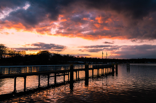 sunset sky lake berlin clouds germany landscape deutschland see sonnenuntergang himmel wolken landschaft wannsee