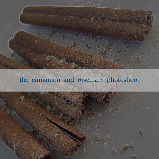 The cinnamon and rosemary photoshoot