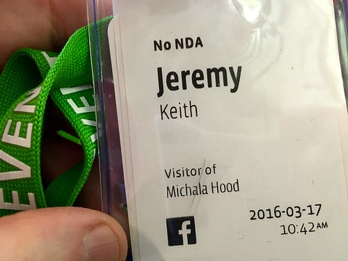 Achievement unlocked: got a custom-made badge for refusing to sign an NDA at Facebook's Mobile@Scale event. | by adactio